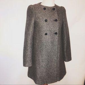 Zara Basic Gray wool coat
